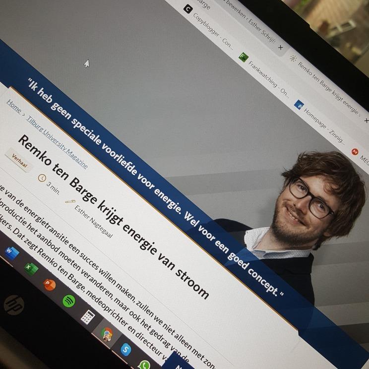 Verhaal Remko ten Barge op website Tilburg University